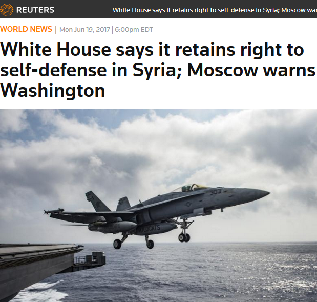 Reuters: White House says it retains right to self-defense in Syria; Moscow warns Washington