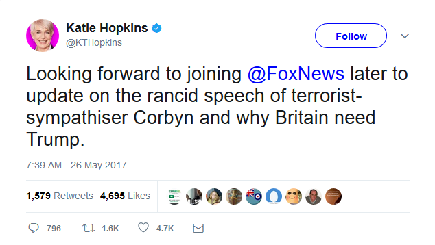 Katie Hopkins on Twitter
