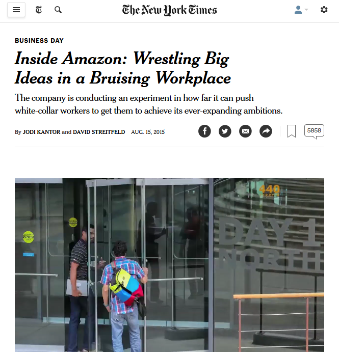 New York Times: Inside Amazon