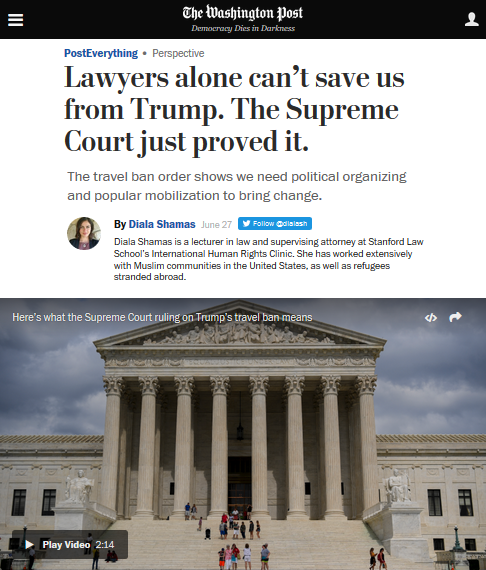 Washington Post: Lawyers alone can't save us from Trump.