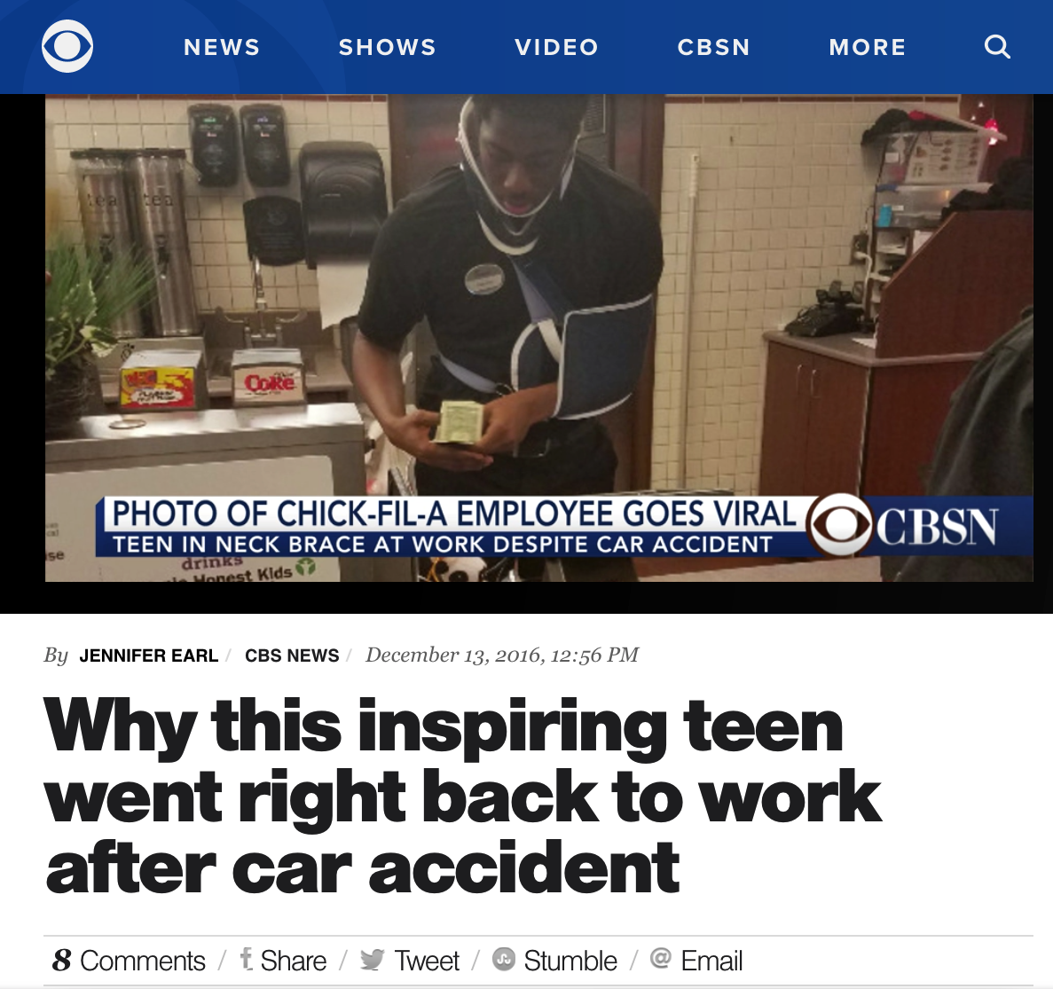 Why This Inspiring Teen Went Right Back to Work After Car Accident