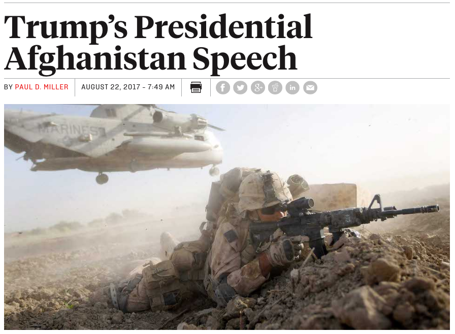 Foreign Policy: Trump's Presidential Afghanistan Speech