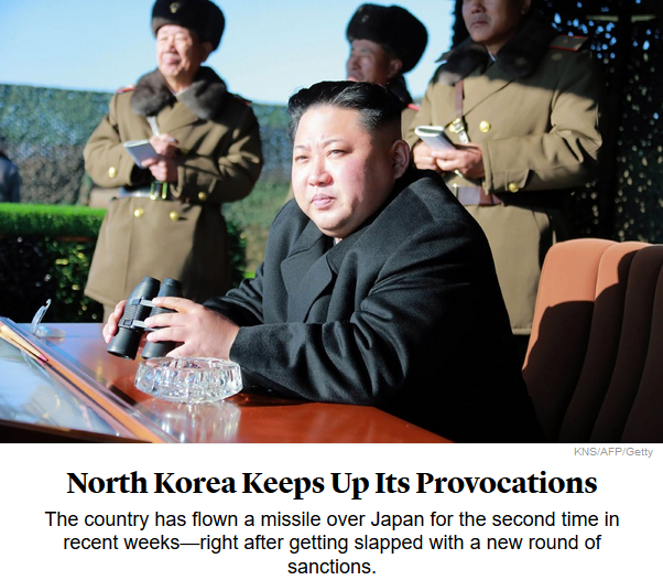 Atlantic: North Korea Keeps Up Its Provocations