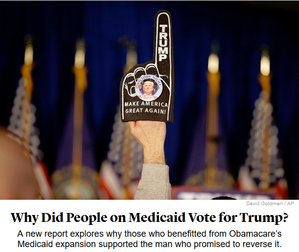 Atlantic: Why Did People on Medicaid Vote for Trump?