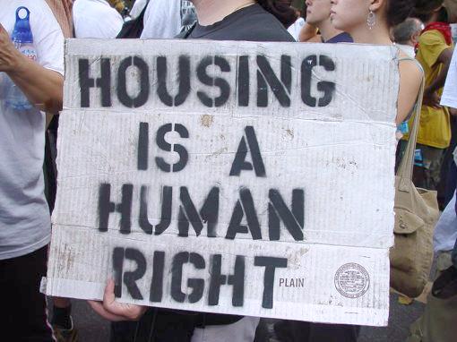 Housing Is a Human Right (cc photo: Jonathan McIntosh/Wikimedia)