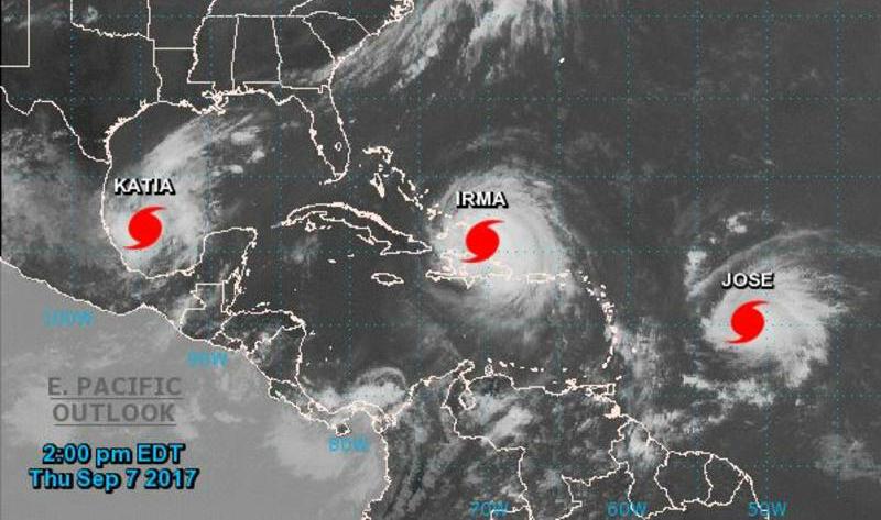 Storms  Irma, Jose and Katia