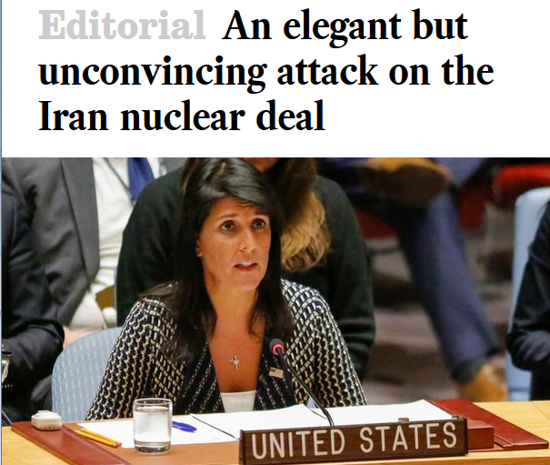 LA Times: An Elegant But Unconvincing Attack on the Iran Nuclear Deal