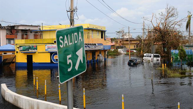Floodwaters after Hurricane Maria, Carolina, Puerto Rico (photo: DoD/Jose Ahiram Diaz-Ramos)