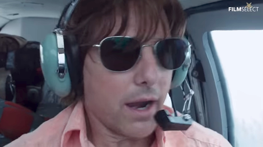 Tom Cruise as Barry Seal in American Made.