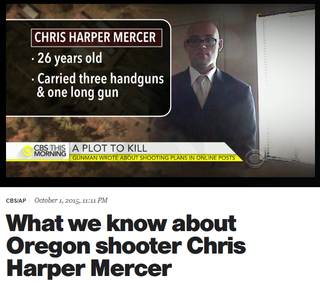 CBS: What We Know About Oregon Shooter Chris Harper Mercer