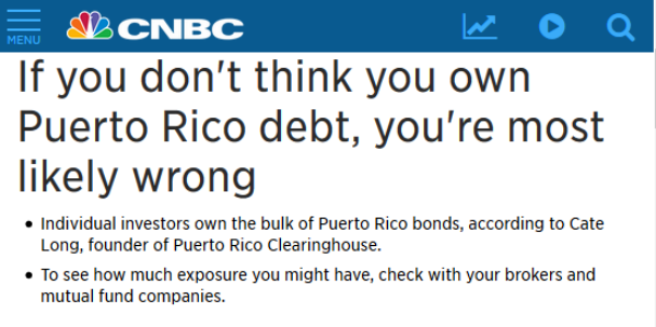 Maria's 'Other' Victims: Puerto Rican Bondholders