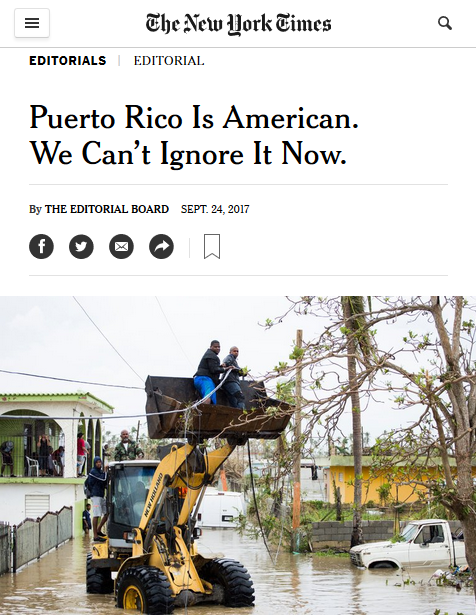 NYT: Puerto Rico Is American