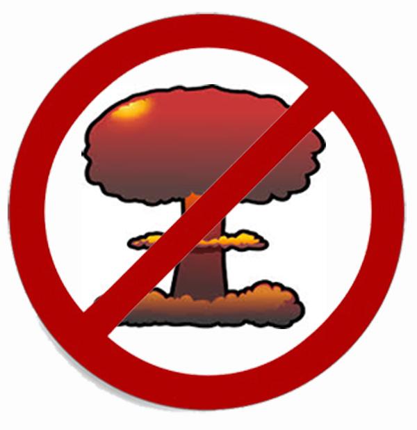 No Nuclear Weapons/Mushroom Cloud