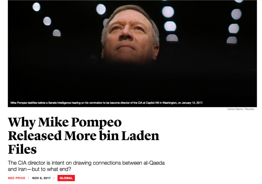 Atlantic: Why Mike Pompeo Released More bin Laden Files