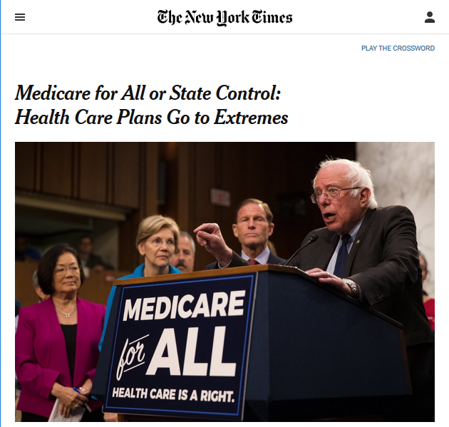 Medicare for All or State Control: Health Care Plans Go to Extremes