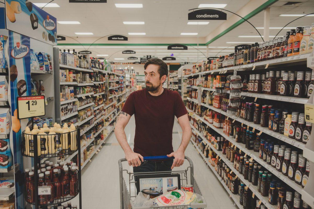 Nazi buying groceries in Ohio.