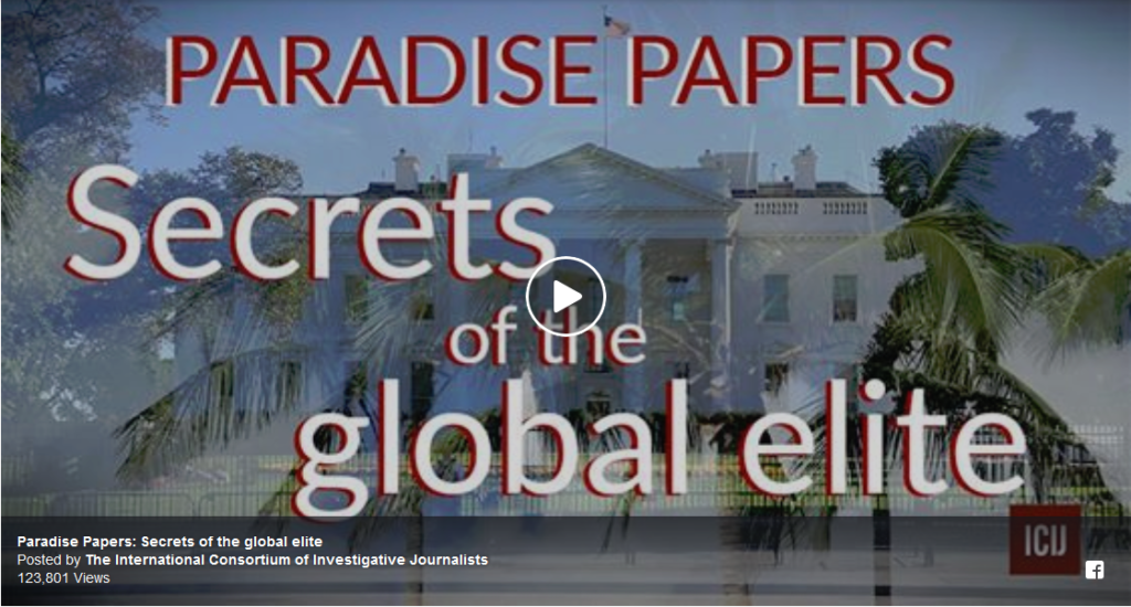 International Consortium of Investigative Journalists' Paradise Papers