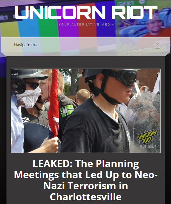 Unicorn Riot: LEAKED: The Planning Meetings that Led Up to Neo-Nazi Terrorism in Charlottesville
