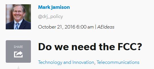 AEIdeas: Do We Need the FCC?