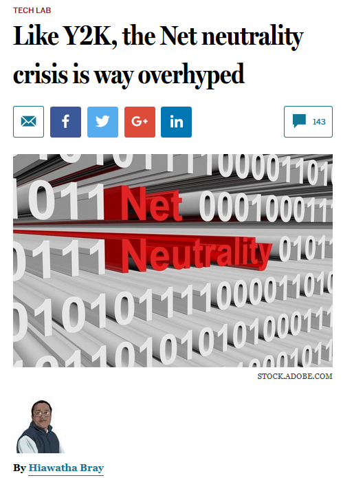 Boston Globe: Like Y2K, the Net neutrality crisis is way overhyped