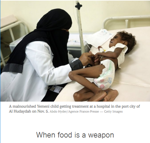 New York Times: When Food Is a Weapon