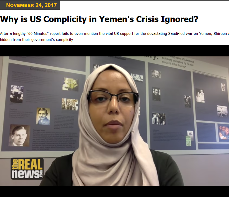 Real News: Why Is US Complicity in Yemen's Crisis Ignored?