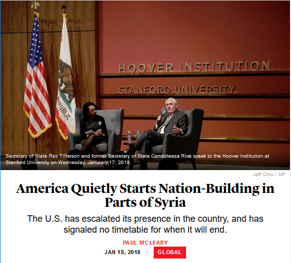 Atlantic: America Quietly Starts Nation-Building in Parts of Syria