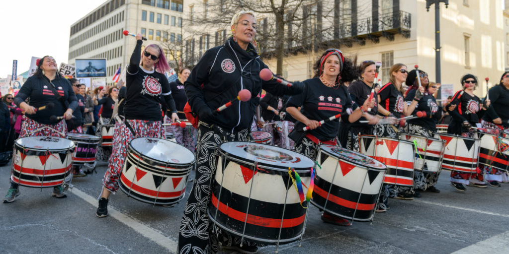 DC Women's March, 2018 (cc photo: Kyle Tsui/Wikimedia)