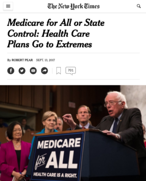 Medicare for All or Lost by Millions: Equal and Opposite 'Extremes'