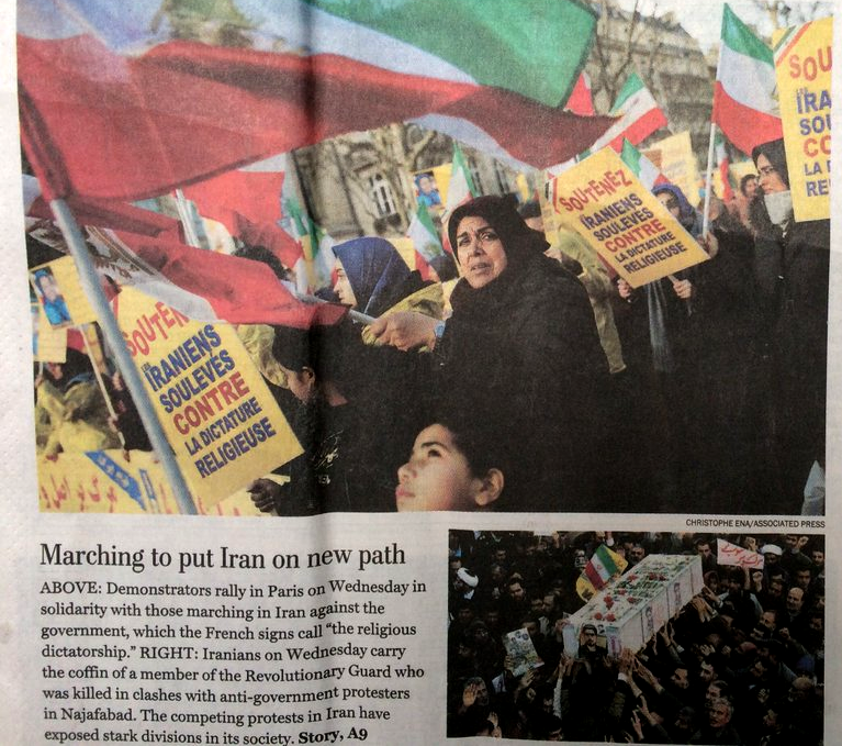 Washington Post photo of MEK protest in France