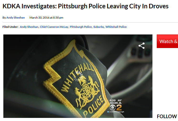 KDKA Investigates: Pittsburgh Police Leaving City in Droves