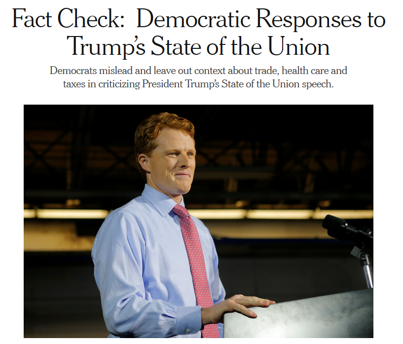 NYT: Factcheck: Democratic Responses to Trump's State of the Union