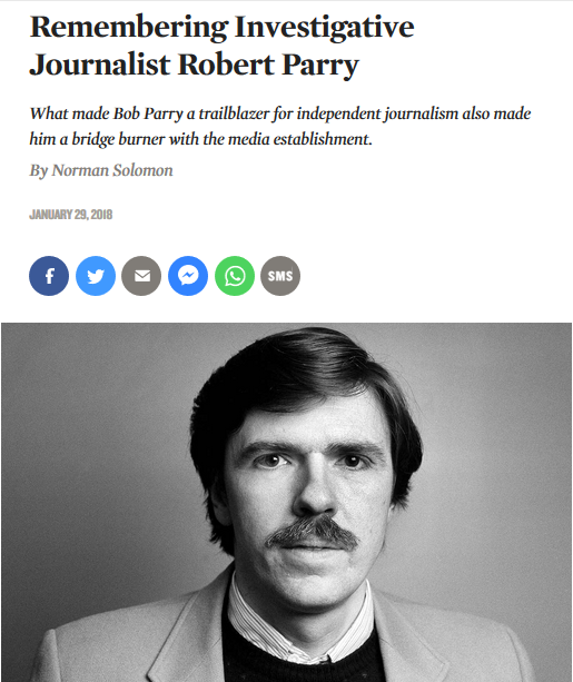 The Nation: Remembering Investigative Journalist Robert Parry
