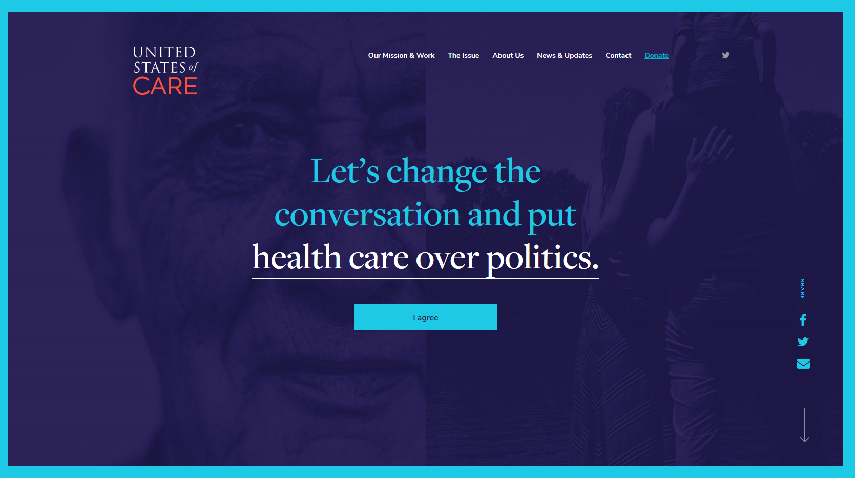 United States of Care website
