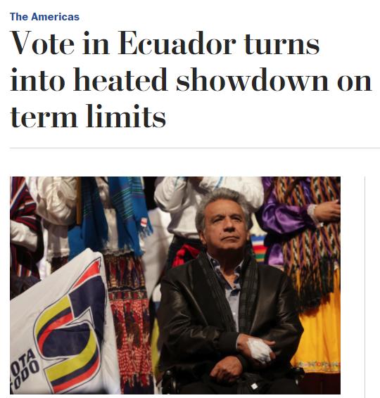 WaPo: Vote in Ecuador turns into heated showdown on term limits
