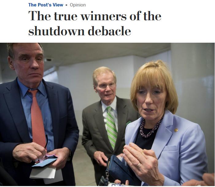 WaPo: The true winners of the shutdown debacle