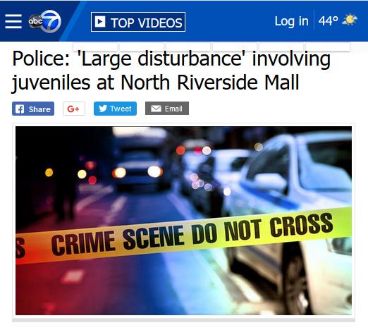 ABC 7 Chicago: Police: 'Large Disturbance' Involving Juveniles at North Riverside Mall