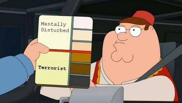 Mentally Disturbed/Terrorist Skin Tone Chart