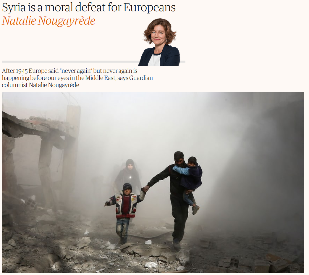 Guardian: Syria is a moral defeat for Europeans