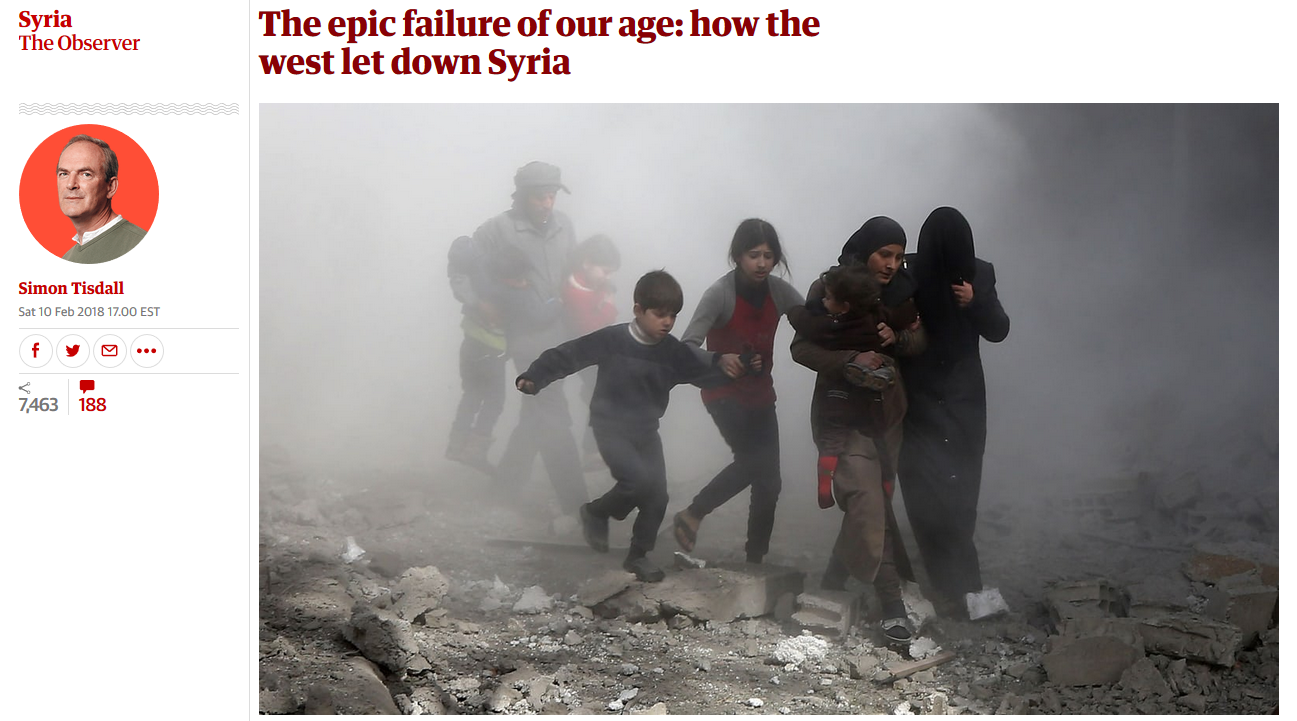 Guardian: The epic failure of our age: how the west let down Syria