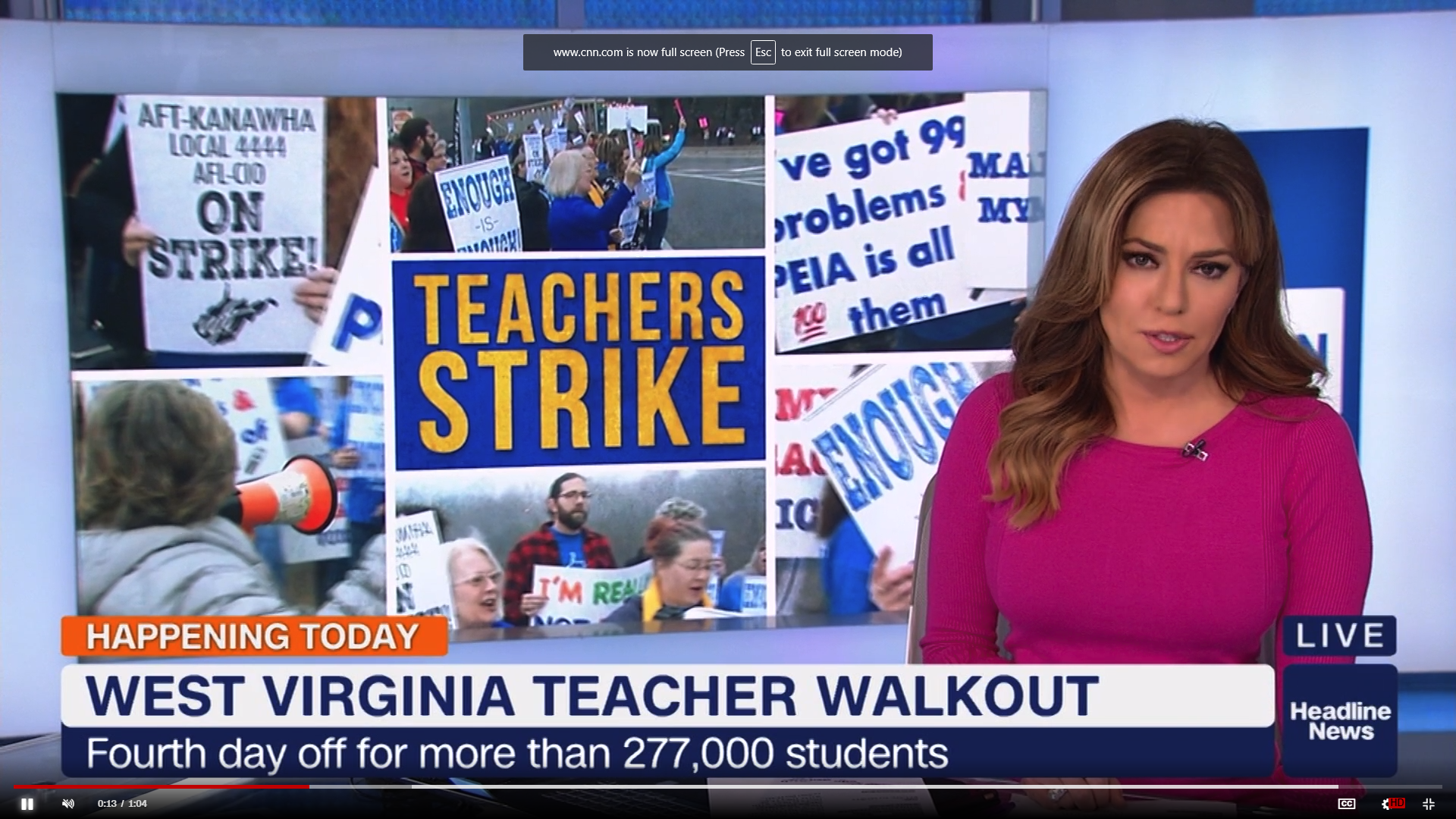 Headline News: West Virginia Teacher Walkout