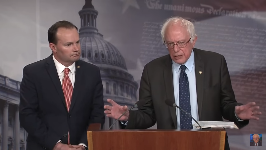Senators Mike Lee and Bernie Sanders (image: C-SPAN)