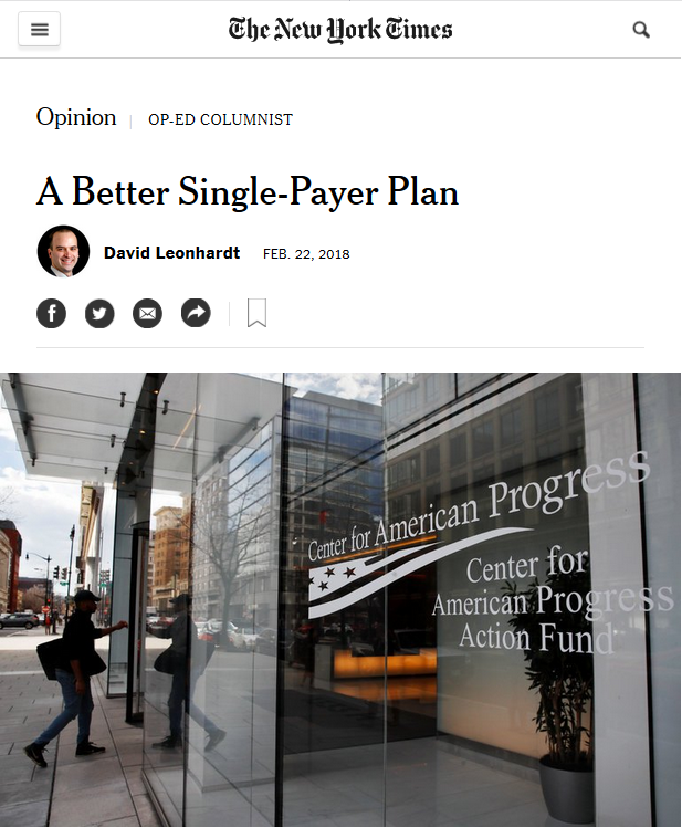 New York Times: A Better Single-Payer Plan