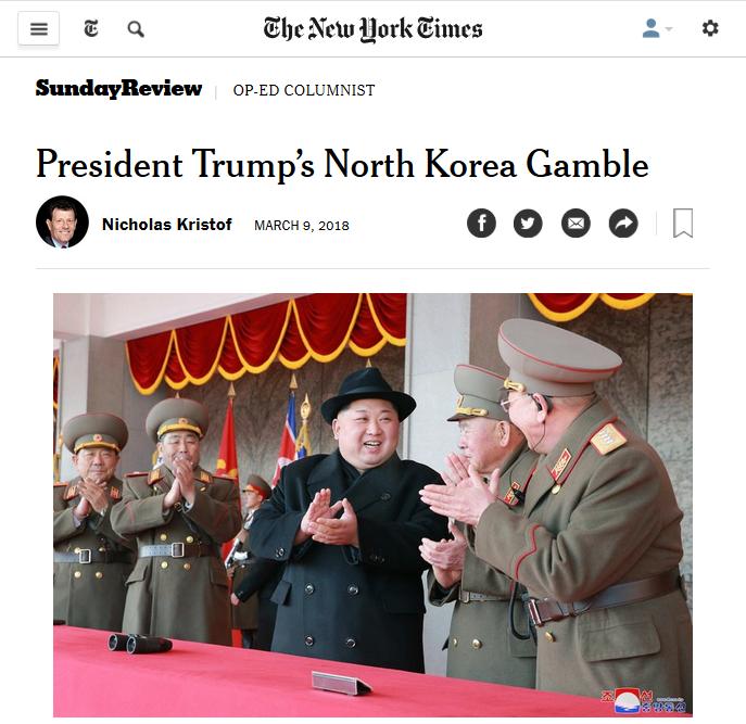 NYT: President Trump's North Korea Gamble