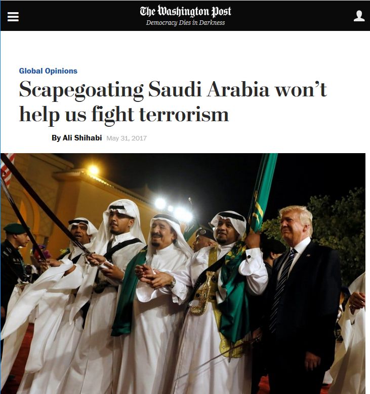 WaPo: Scapegoating Saudi Arabia Won't Help Us Fight Terrorism