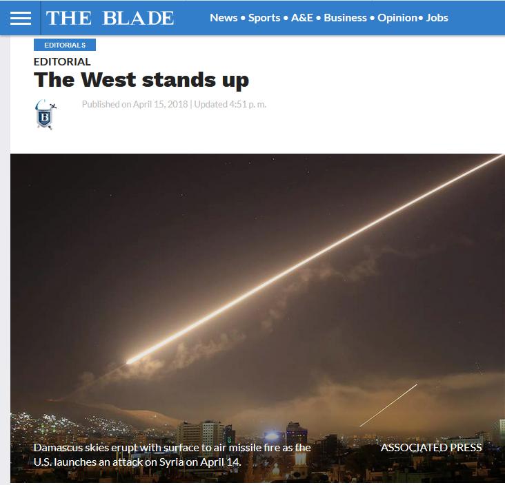 Toledo Blade: The West Stands Up