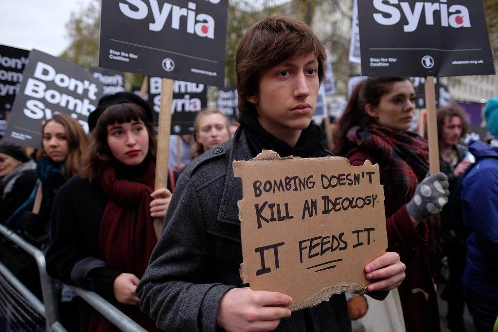 Bombing Doesn't Kill an Ideology--It Feeds It (cc photo: Alisdare Hickson)
