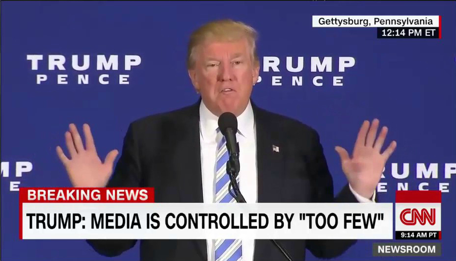 CNN: Trump: Media Is Controlled by 'Too Few'