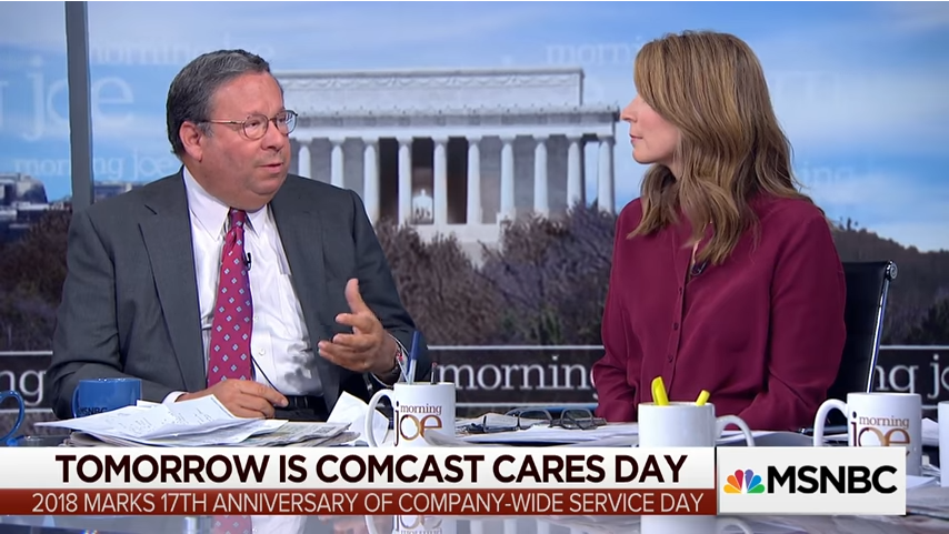 Comcast VP David Cohen interviewed by MSNBC host Nicolle Wallace