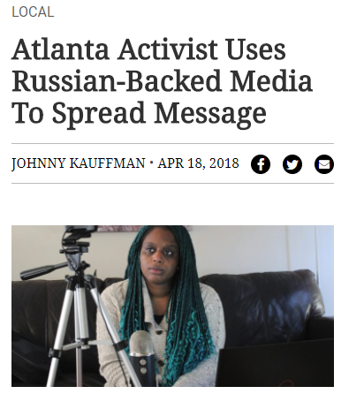 WBAE: Atlanta Activist Uses Russian-Backed Media To Spread Message